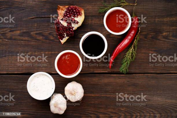 Selection of different sauces in bowls picture id1156225744?b=1&k=6&m=1156225744&s=612x612&h=ribyhvb9o0gdvysp1a2f hrbplnvkx9j wht2vywii0=