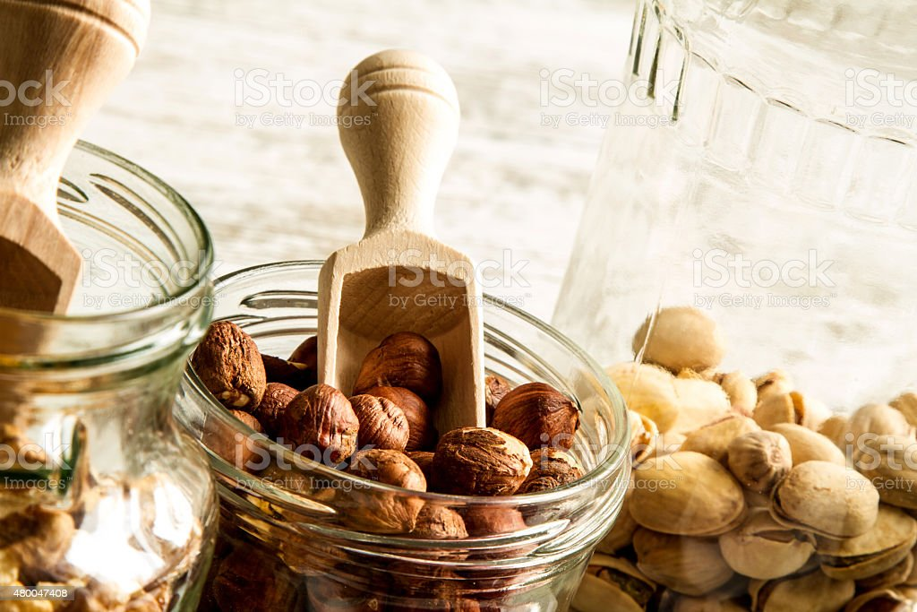 Selection of dried fruits stock photo
