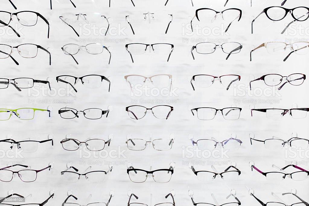 Selection of eyeglasses stock photo