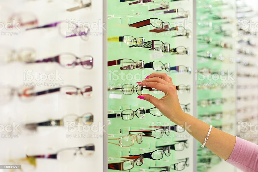 Selection of eyewear royalty-free stock photo