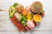Selection of food that is good for the health and