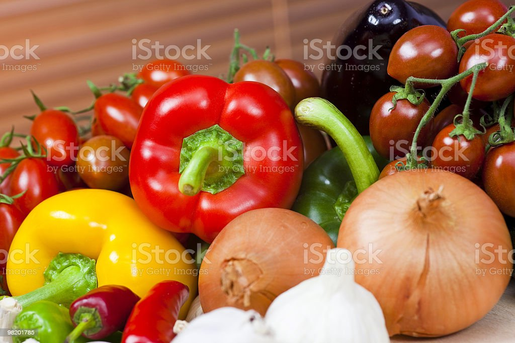 Selection Of Fresh Raw Vegetables royalty-free stock photo