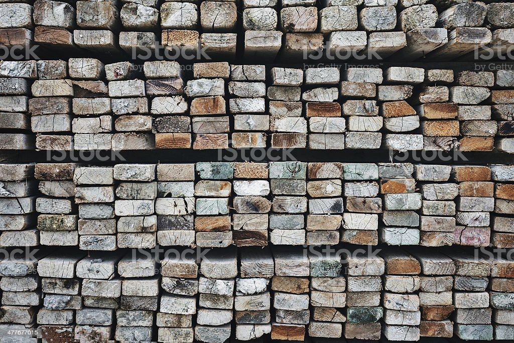 Selection of freshly sawn timber material royalty-free stock photo