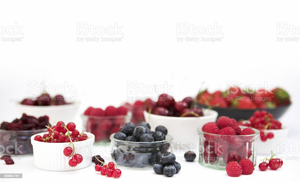 Selection of fruits & berries royalty-free stock photo