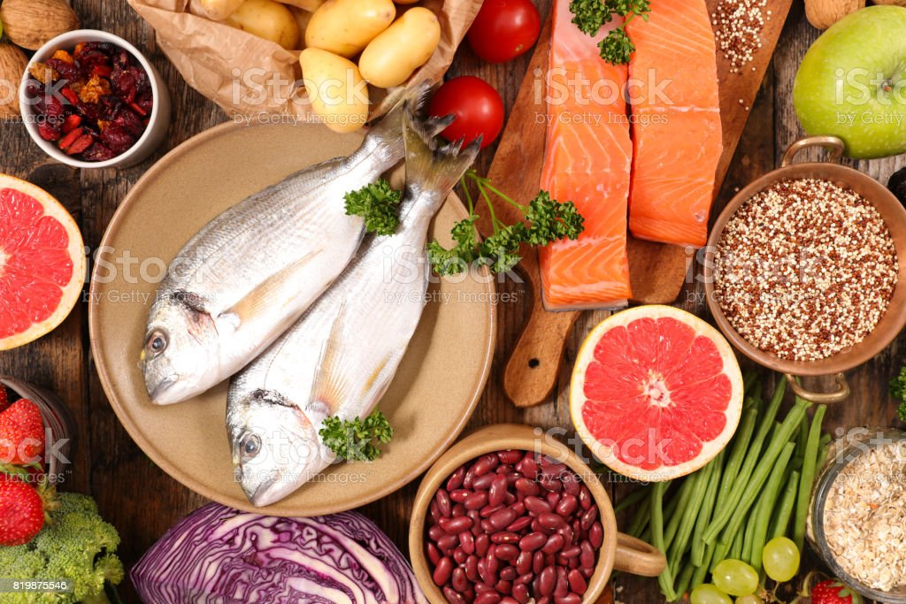 selection of health food stock photo