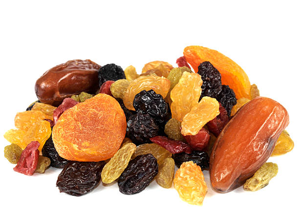 selection of healthy dried fruits - dried fruit stock photos and pictures