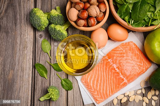 istock Selection of healthy products. Balanced diet concept. 599876756