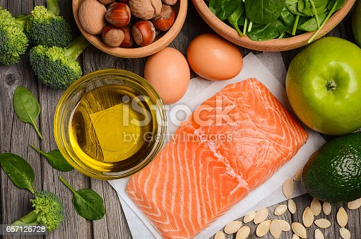 istock Selection of healthy products. Balanced diet concept. 657126728