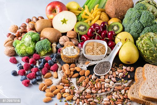 istock Selection of healthy rich fiber sources vegan food for cooking 812997516