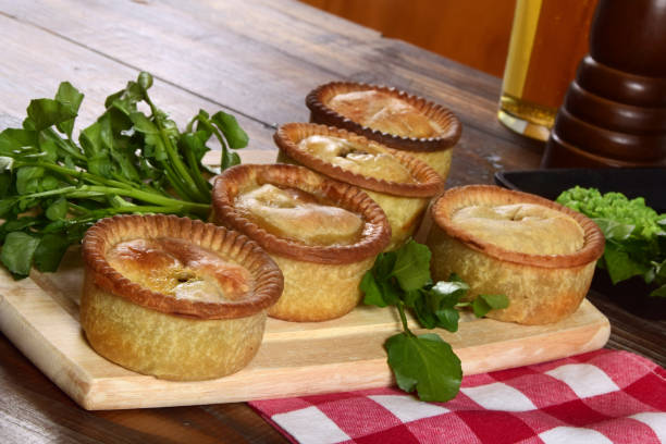 Selection of Individual British Meat Pies stock photo