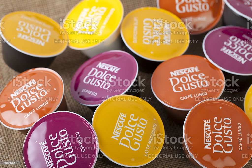 Selection of Nescafe Dolce Gusto coffe capsules