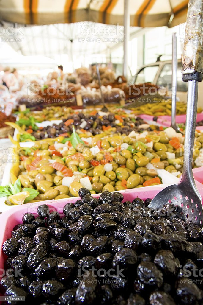 Selection of Olives royalty-free stock photo