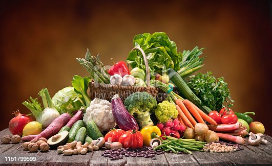 istock Selection of organic food for healthy nutrition 1151799599