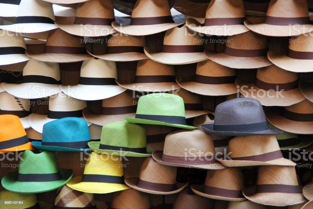Foto de Uma Seleção De Panamá Chapéus Cartagena Colômbia Da América ... 71fc859c6ac