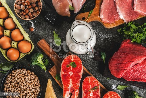 istock Selection of protein sources food 862062720