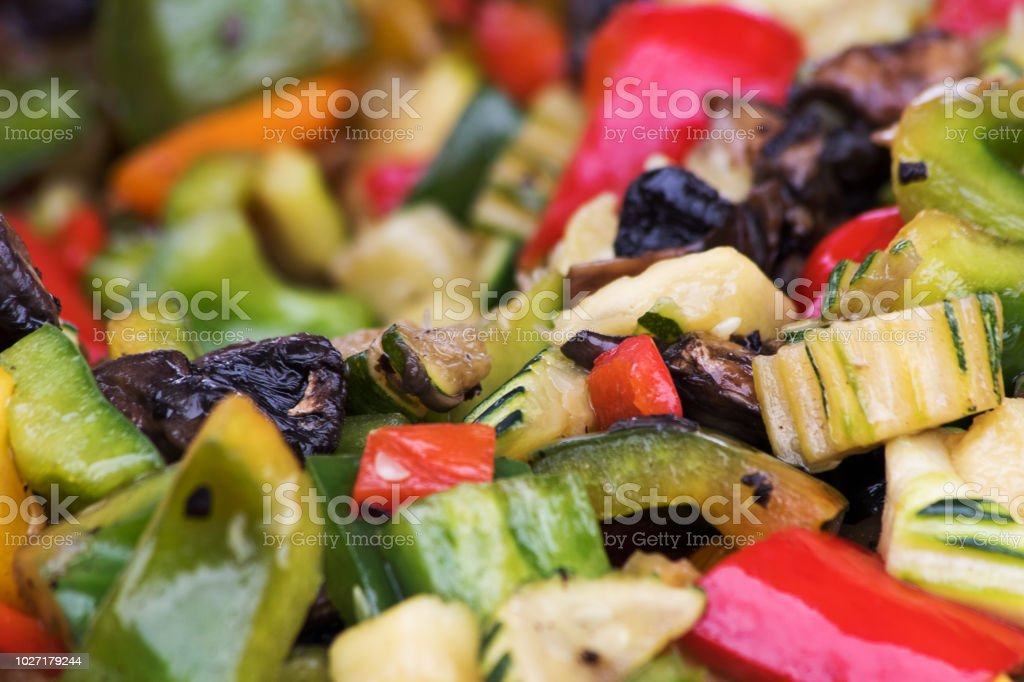 Selection of roasted vegetables stock photo