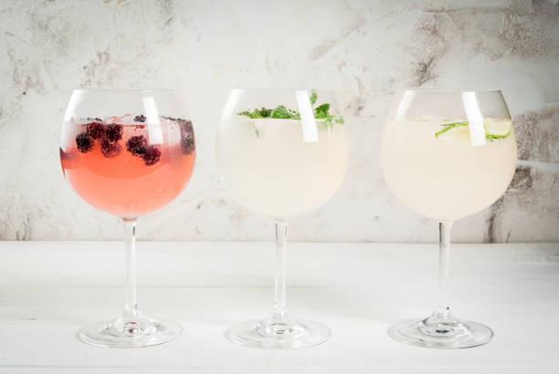 Sélection des trois types de gin tonique - Photo