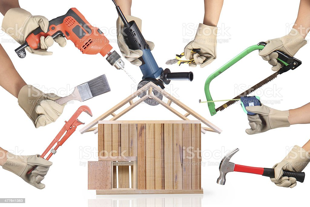 Selection of tools shape royalty-free stock photo