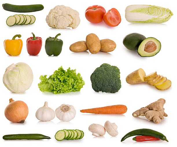 Selection of vegetables stock photo