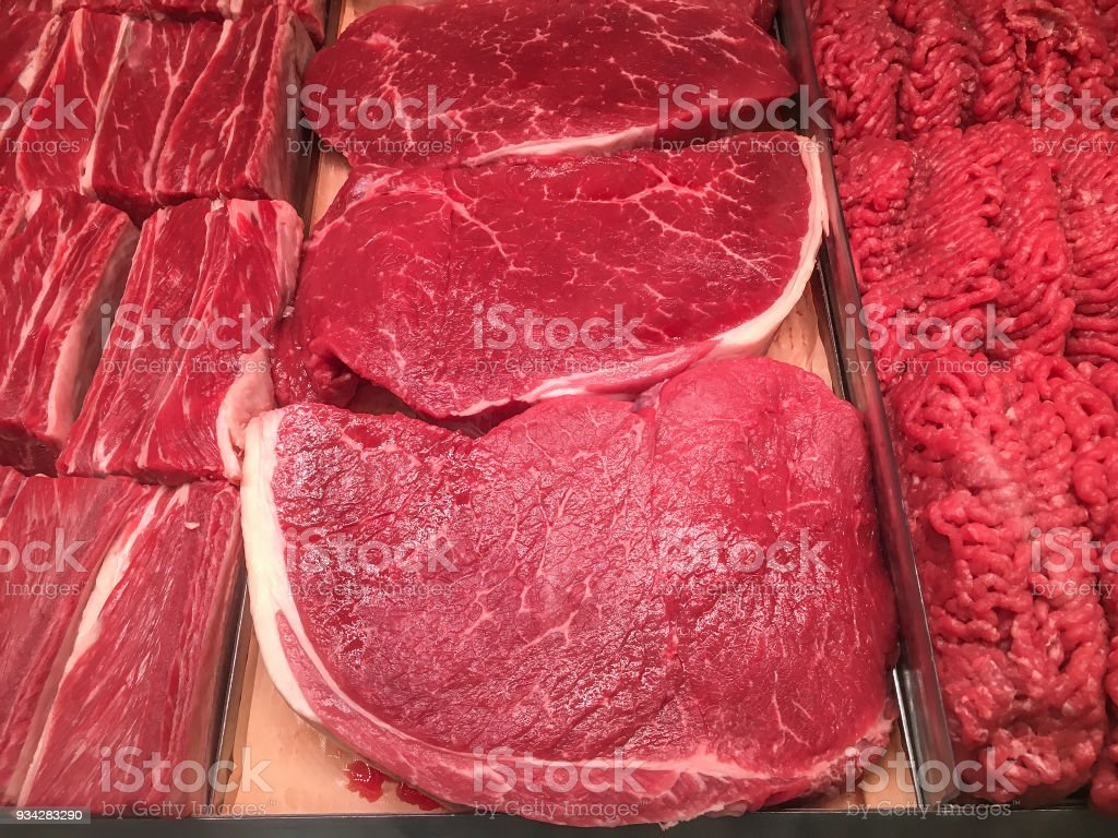 Selections of beef stock photo