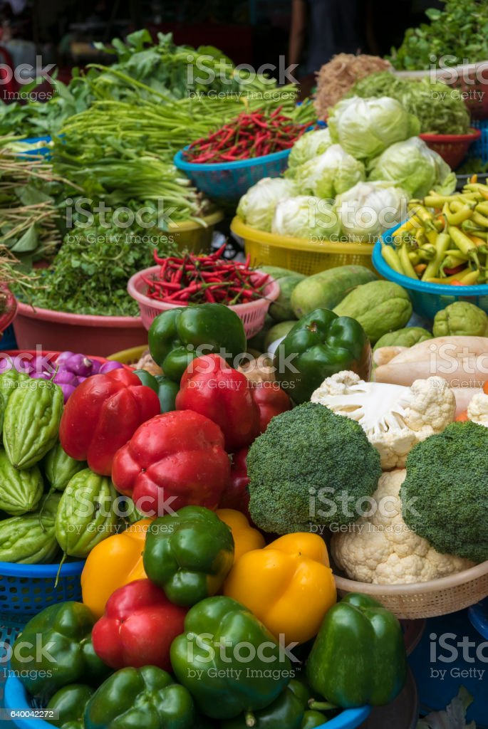Selections of healthy fruits, and spices. Fresh market stock photo