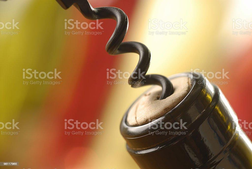 Selective focus image of Cork Screw royalty-free stock photo
