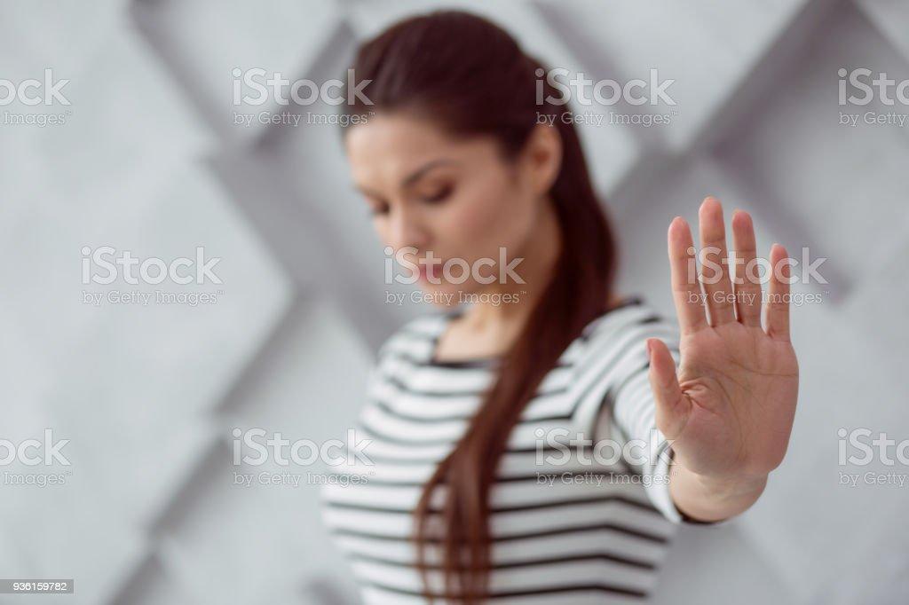 Selektiven Fokus einer weiblichen Hand – Foto