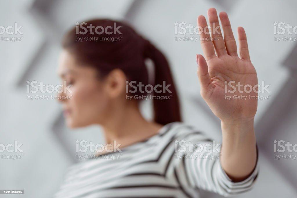 Selektiven Fokus einer Hand – Foto