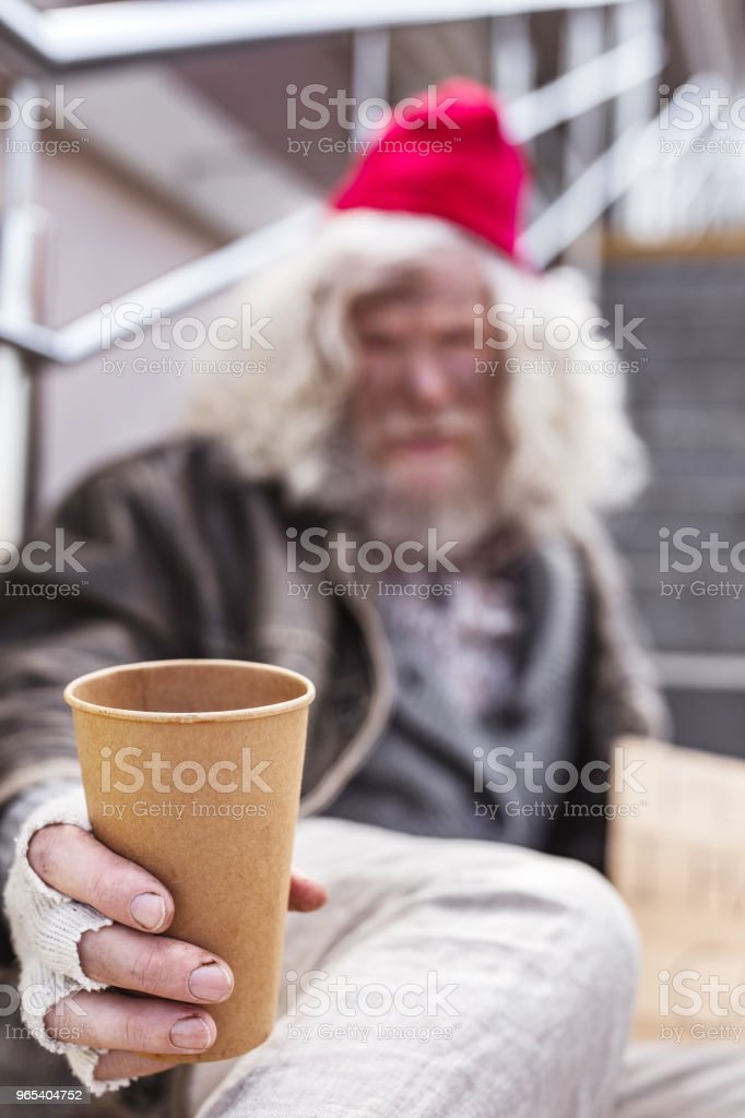 플라스틱 컵의 선택적 초점 - 로열티 프리 Charity Benefit 스톡 사진