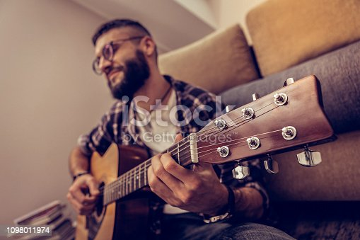 istock Selective focus of a professional music instrument 1098011974