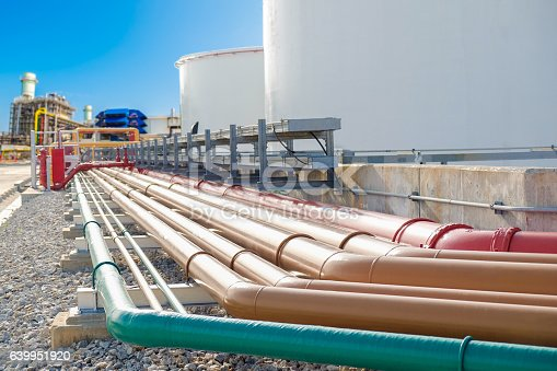 Selective focus of fuel oil piping, fire protection piping and service water piping in power plant