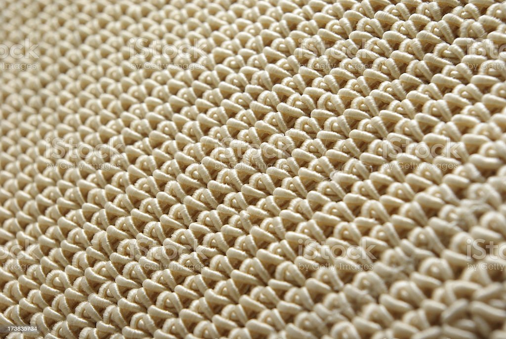 selective focus on woven material royalty-free stock photo