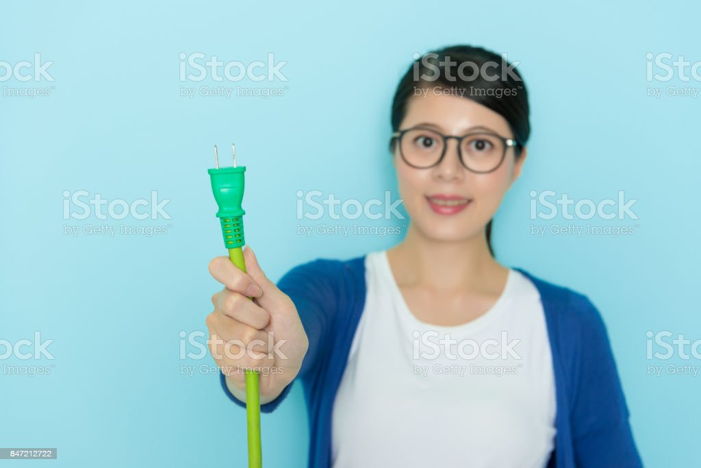 selective focus photo of smiling beauty woman stock photo