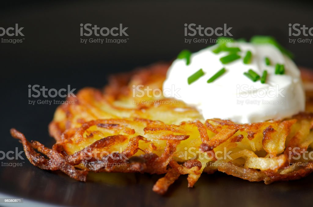Selective Focus Potato Latke royalty-free stock photo