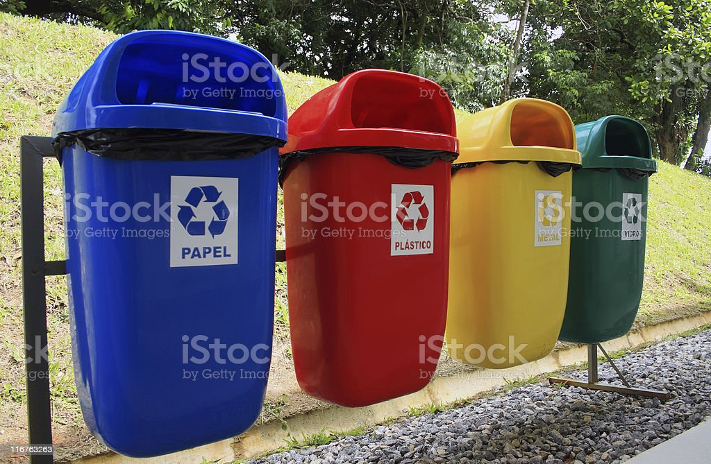 Selective garbage stock photo