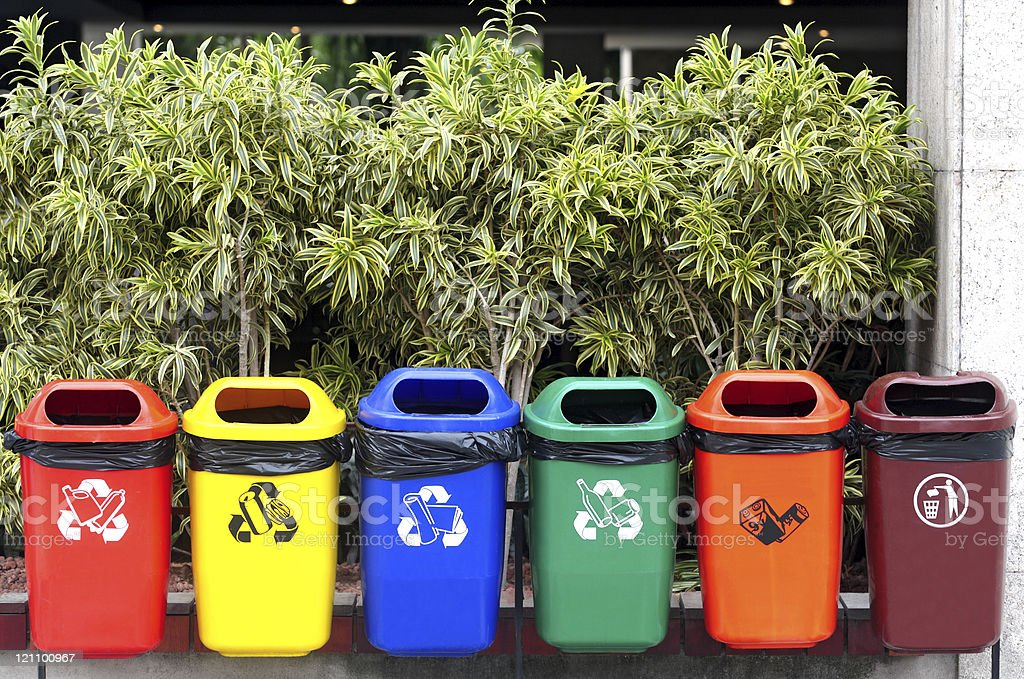 Selective garbage royalty-free stock photo