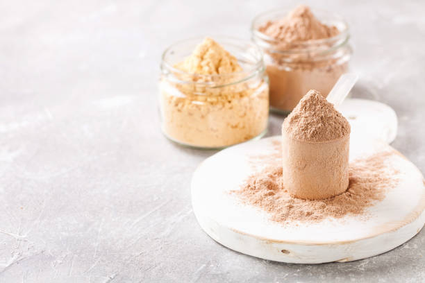 selektywne białko w proszku - białko zdjęcia i obrazy z banku zdjęć