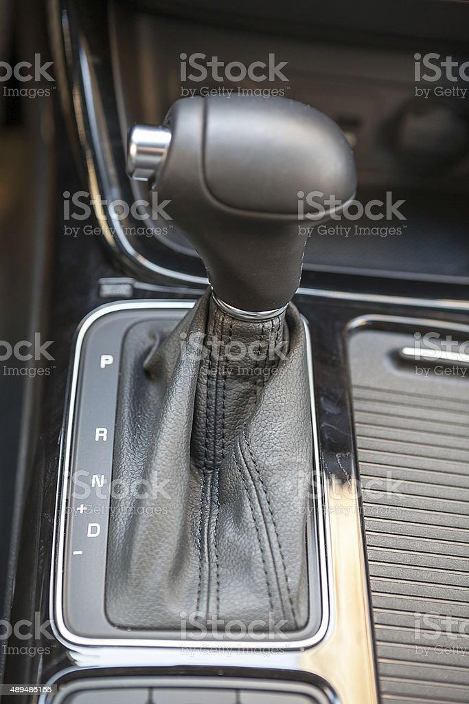 Selector of an automatic transmission gear in vehicle royalty-free stock photo