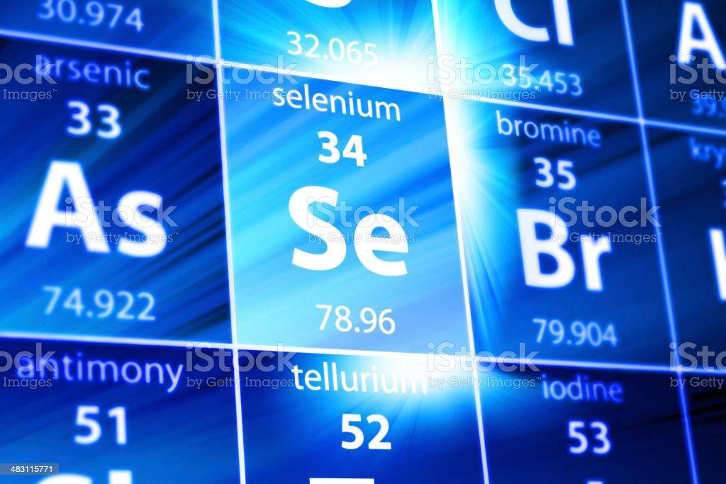 Seleniun Se Periodic Table stock photo
