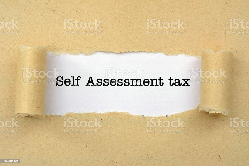 Self assessment tax stock photo