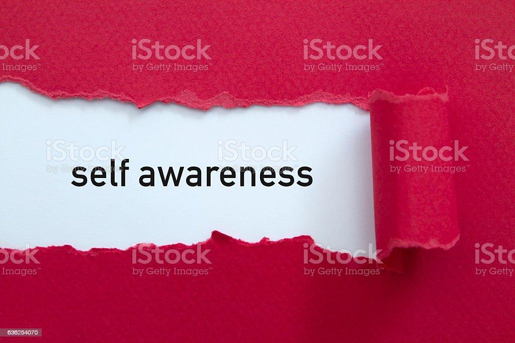 Self awareness stock photo