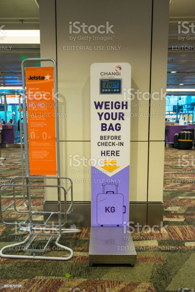 Self check-in kiosks at Changi Aiport stock photo