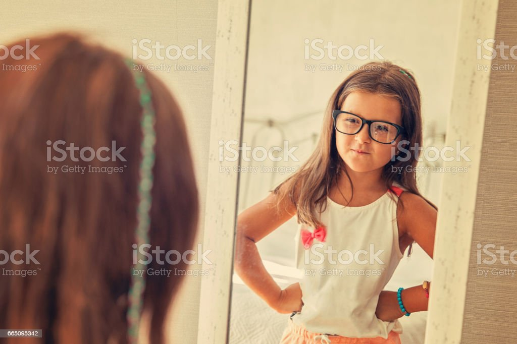 Self confidence and acceptance is key stock photo