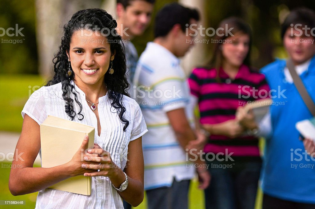 Self confidence female college student royalty-free stock photo