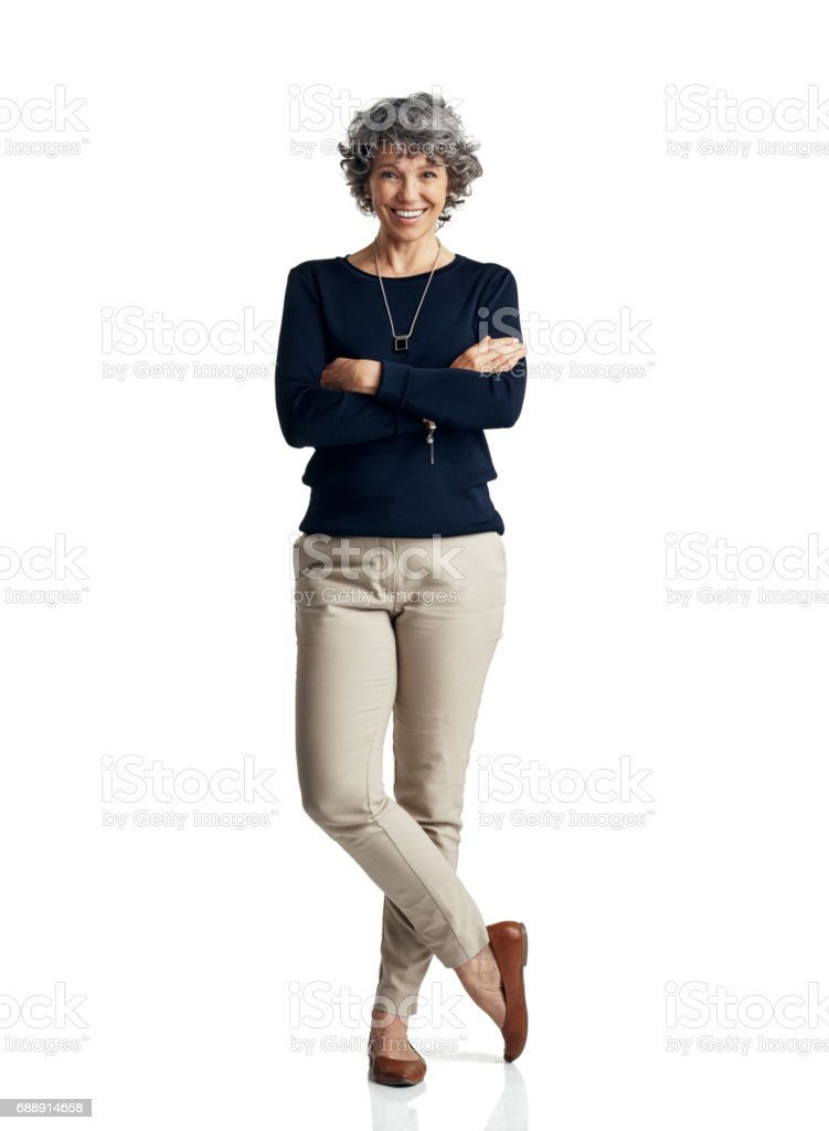 Self confidence is the pillar of a strong personal presence stock photo
