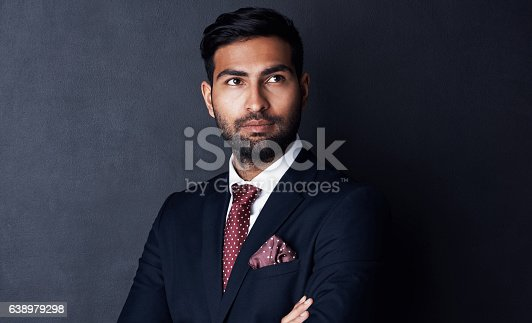 istock Self confidence that matches his executive mission 638979298