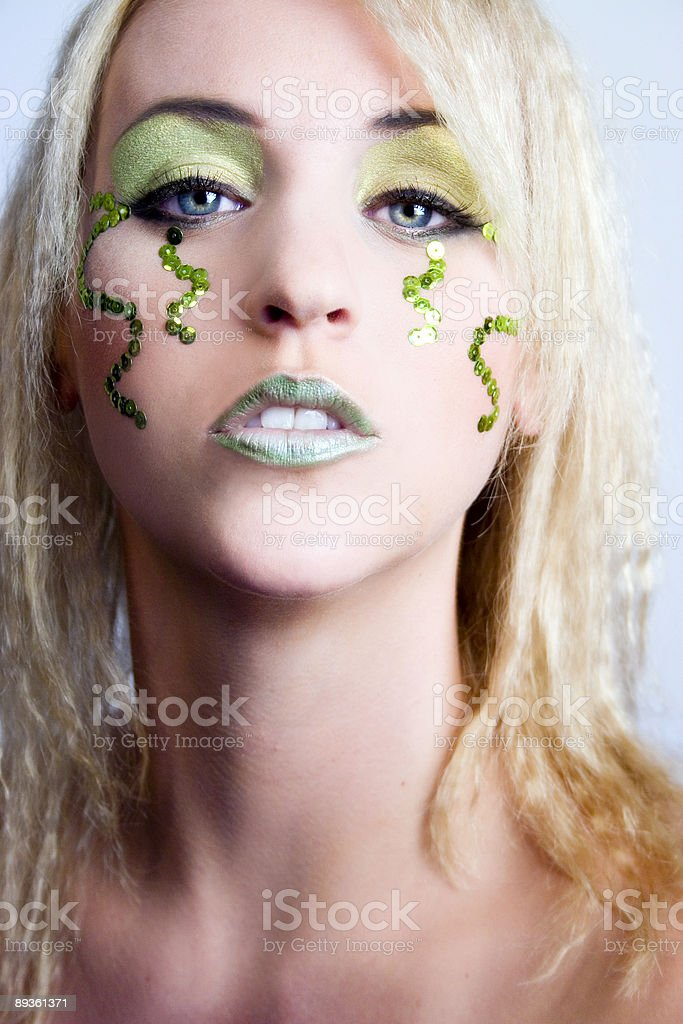 Self confident in green royalty free stockfoto