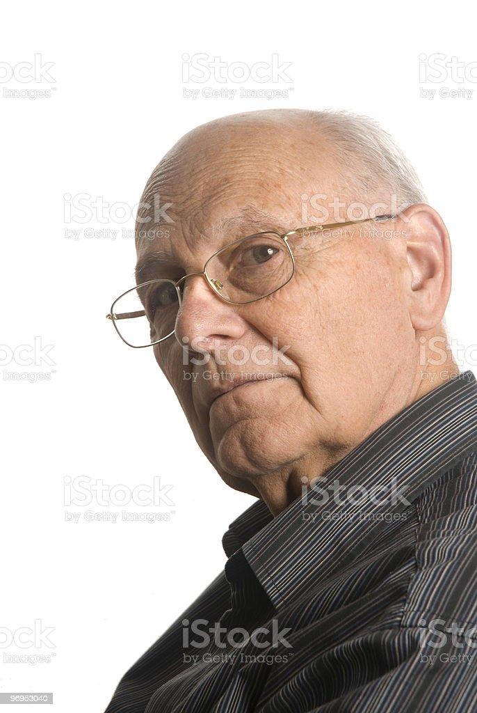 Self confident senior man royalty-free stock photo
