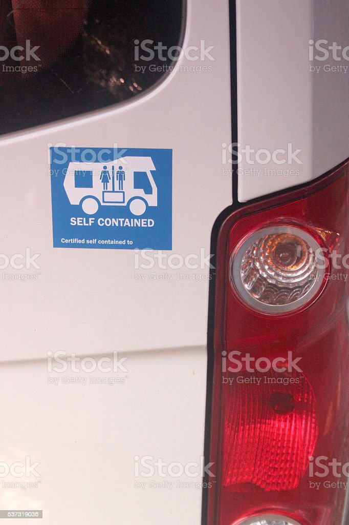 Self Contained Campervan stock photo