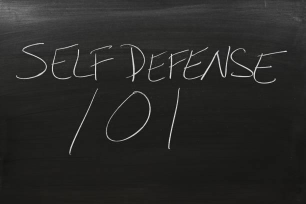 Self Defense 101 On A Blackboard The words